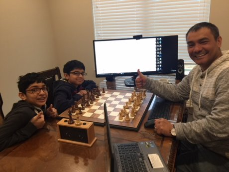 First lesson in Chess Academy